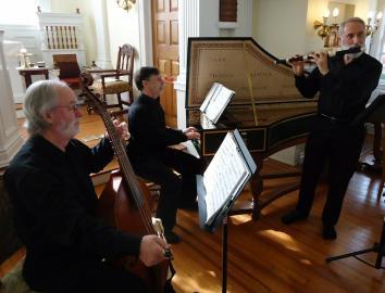 Älteres Trio beim musizieren