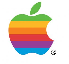 Altes Apple-Logo in Regenbogenfarben