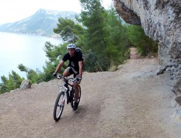 Radfahrer auf Formentera