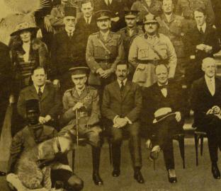 Foto der Teilnehmer der Cairo Conference von 1921 (Bidausschnitt)