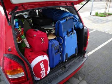 Vollgepackter Kofferraum