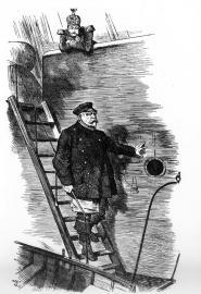 Der Lotse geht von Bord - Karikatur zu Bismarcks Rücktritt