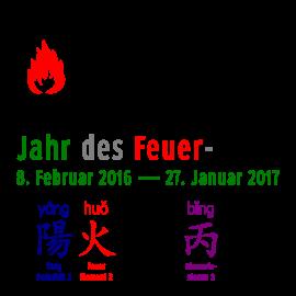 Deutsche und chinesische Ausdrücke zum Thema Jahr des Feuer-Affen