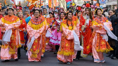 Chinesische Neujahrsparade in Paris
