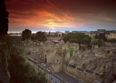 Abendstimmung über Herculaneum
