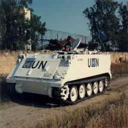 Kanadischer UN-Panzer