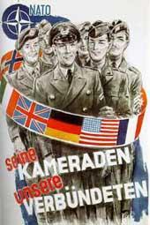 NATO-Plakat aus den 50er Jahren: Die Bundeswehr als integraler Bestandteil der NATO