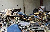 Die Trümmer der abgestürzten Tupolew