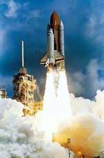 Space Shuttle beim Start