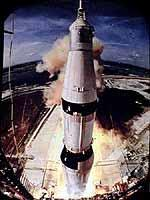 Start von Apollo 11 am 16. 7. 1969