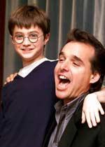 Chris Columbus und Daniela Radcliffe vor den Dreharbeiten zu 'Harry Potter'