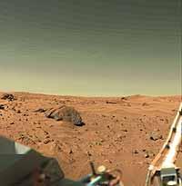 Oberfläche des Mars.