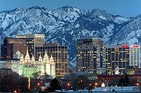 Die Skyline von Salt Lake City