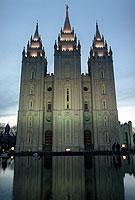 Tempel der Mormonen in Salt Lake City