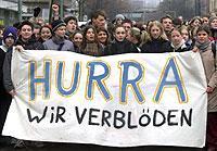 Schüler bei einer Demo gegen Sparpläne an Berliner Schulen im Dezember vergangenen Jahres