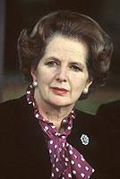"""Ihre kompromisslose Innen- und Außenpolitik brachte ihr den Beinamen """"Eiserne Lady"""" ein: die damalige britische Premierministerin Margaret Thatcher."""