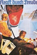 """Werbeplakat der nationalsozialistischen Freizeitorganisation """"Kraft durch Freude"""""""