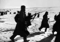 Truppen der Roten Armee in der Schlacht von Stalingrad 1943