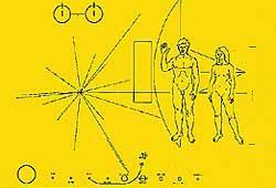 Die Plakette von Pioneer 10