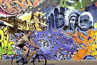 Graffiti-Kunst zählt zum Repertoire der HipHop-Kultur.