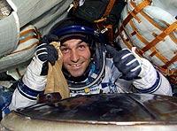 Der ultimative Urlaubskick: Mark Shuttleworth nach seinem Weltraumtrip.