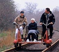 Spaß für die ganze Familie: Ausflug mit der Fahrraddraisine..jpeg