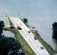 """""""Jahrhundertflut"""" am Mississippi."""