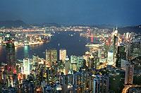 Skyline von Hongkong: Die Millionen-Metropole hat mit einer steigenden Bevölkerungsdichte und Arbeitslosigkeit zu kämpfen.