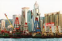 Hongkong verliert als Umschlagplatz für den weltweiten Export zunehmend an Bedeutung.