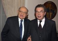 Marcel Reich-Ranicki und Hellmuth Karasek