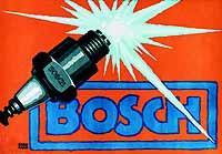 © Bosch, Stuttgart. Plakatwerbung für Zündkerzen aus dem Jahr 1913..jpeg