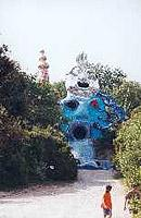 Überlebensgroß: Magier im Tarotgarten von Niki de Saint-Phalle (© Sylvia Raschk