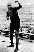 Überragte seine Gegner an Größe und Schlagkraft: Jack Johnson, der erste farbige Boxweltmeister im Schwergewicht