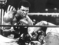 Mit einem K.o.-Sieg gegen George Foreman holte sich Muhammad Ali (l.) in Kinshasa den Weltmeistertitel im Schwergewicht zurück.