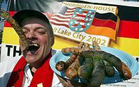 Deutsche Spezialitäten stehen in den USA hoch im Kurs: Selbst während der Olympischen Winterspiele in Salt Lake City 2002 wurden massenweise Thüringer Bratwürste verkauft.