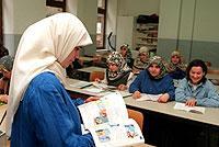 Rund 400.000 Türkinnen und Türken lernen derzeit Deutsch in Bildungseinrichtungen in der Türkei.