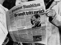 Brandts Rücktritt machte Schlagzeilen