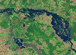 Hochwasser an der Elbe, 20.08.2002.