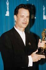 """Tom Hanks erhält einen Oscar für """"Forrest Gump"""""""