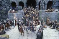 Die Reier von Rohan in Helms Klamm; © Warner Bros..jpeg