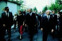 Auch nach seinem Ruecktritt als Bundeskanzler zog sich Willy Brandt nicht ganz a