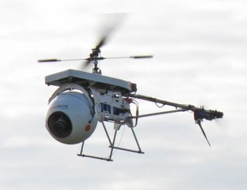 Foto-Drohne im Einsatz