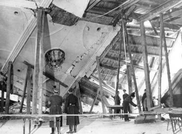 Schäden am Bürgerbräukeller in München nach dem Attentat