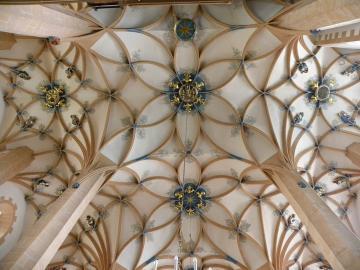 Spätgotisches Gewölbe der St. Annenkirche von Annaberg-Buchholz