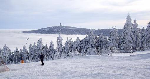 Skipiste und Lift in Oberwiesenthal