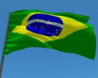 Die Nationalflagge Brasiliens
