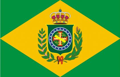 Die königliche Flagge Brasiliens von 1822: