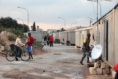 Flüchtlingslager in Hal Far auf Malta
