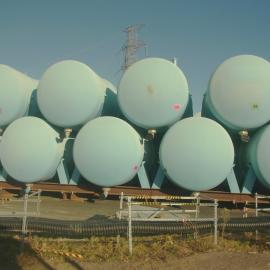 Tanks auf dem Gelände von Fukushima Daiichi
