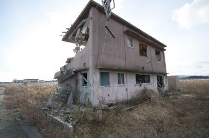 Blick auf die Stadt Namie, nur wenige Kilometer von Fukushima Daiichi